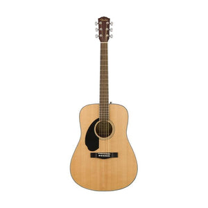 Fender CD-60S Dreadnought Left Handed Acoustic Guitar, Natural