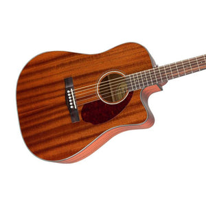 Fender CD-140SCE Dreadnought Acoustic Guitar w/Cutaway & Electronics & Case, All Mahogany