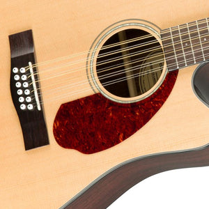 Fender CD-140SCE Dreadnought 12 String Acoustic Guitar w/Cutaway & Electronics & Case, Natural