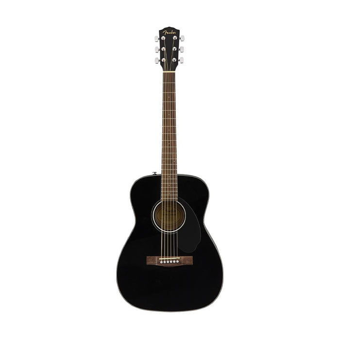 Fender CC-60S Concert Acoustic Guitar Pack V2, Walnut FB, Black