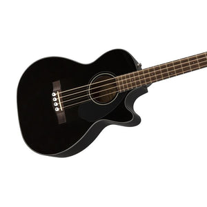 Fender CB-60SCE Acoustic Bass Guitar w/Cutaway & Electronics, Laurel FB, Black