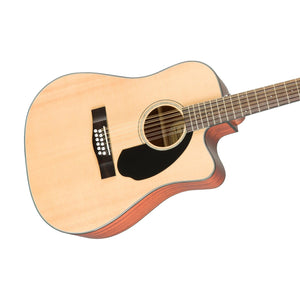 Fender CD-60SCE Dreadnought 12-string Acoustic Guitar, Walnut FB, Natural
