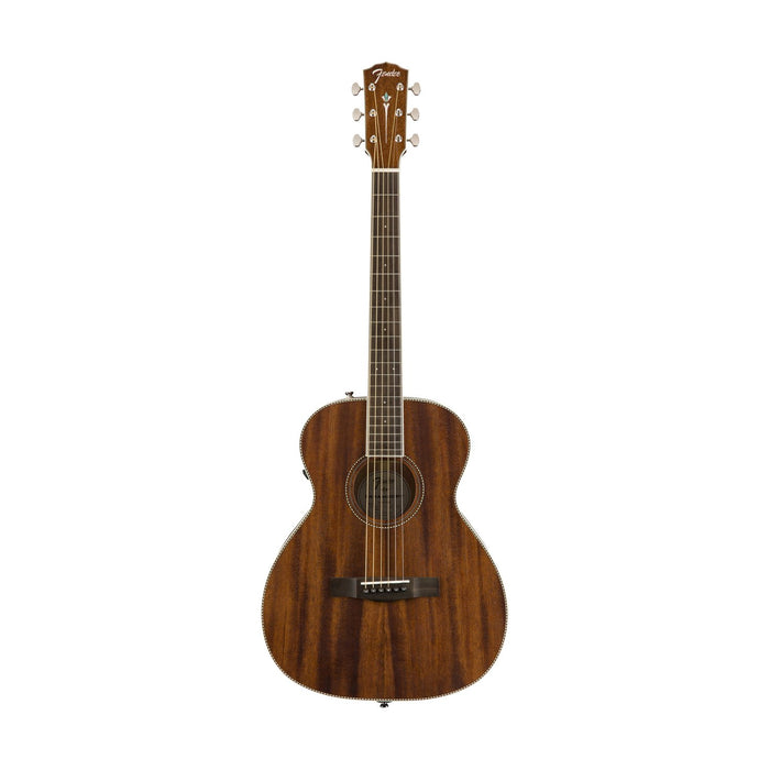 Fender PM-TE Travel All-Mahogany Acoustic Guitar w/Case, Travel