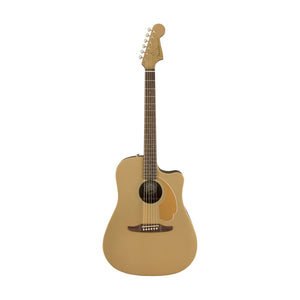 Fender California Redondo Player Slope-Shouldered Acoustic Guitar, Walnut FB, Bronze Satin