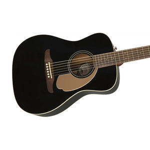 Fender Malibu Player Small-Bodied Acoustic Guitar, Jetty Black
