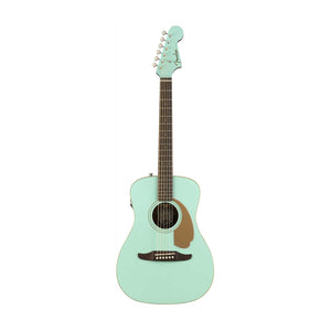 Fender Malibu Player Small-Bodied Acoustic Guitar, Aqua Splash