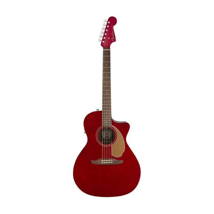 Fender Newporter Player Medium-Sized Acoustic Guitar, Candy Apple Red