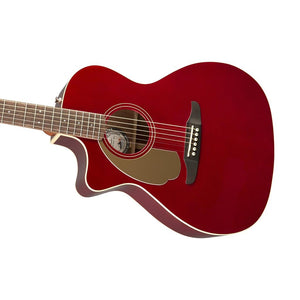 Fender California Newporter Player Left-Handed Acoustic Guitar, Candy Apple Red