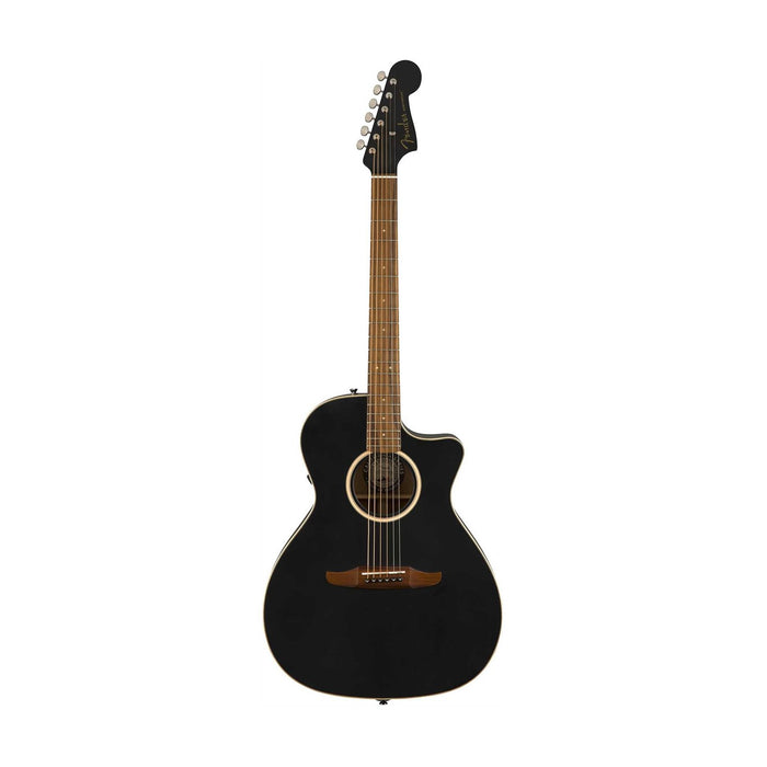 Fender Newporter Special Medium-Sized Acoustic Guitar w/Bag, Matte Black