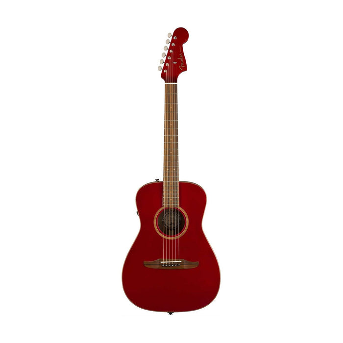 Fender Malibu Classic Small-Bodied Acoustic Guitar w/Bag, Hot Rod Red Metallic