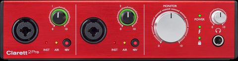 FOCUSRITE CLARETT 2PRE 10X4 THUNDERBOLT INTERFACE | Zoso Music