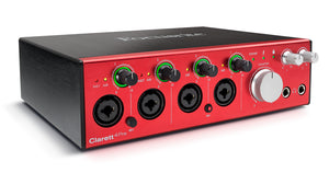 FOCUSRITE CLARETT 4PRE 18X8 THUNDERBOLT INTERFACE | Zoso Music