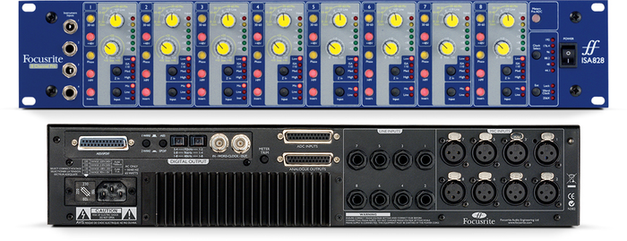 FOCUSRITE ISA 828 8 CHANNEL PRE PACK PRE - AMP
