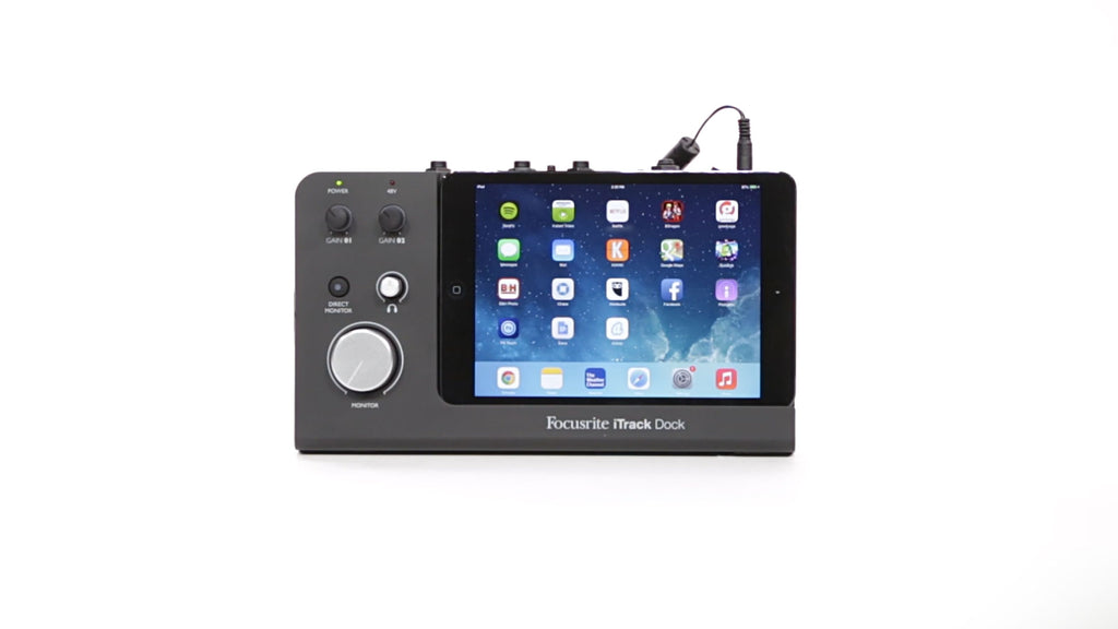 FOCUSRITE iTRACK DOCK 2 - CHANNEL iPAD RECORDING INTERFACE WITH LIGHTNING CONNECTOR | Zoso Music