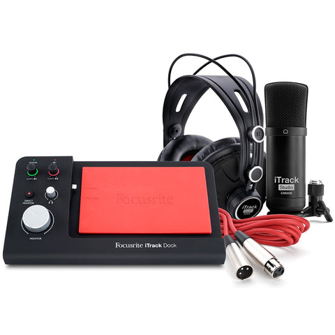FOCUSRITE iTRACK DOCK STUDIO PACK RECORDING STUDIO | Zoso Music