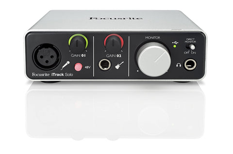 FOCUSRITE iTRACK SOLO AUDIO INTERFACE WITH LIGHTNING CONNECTOR | Zoso Music