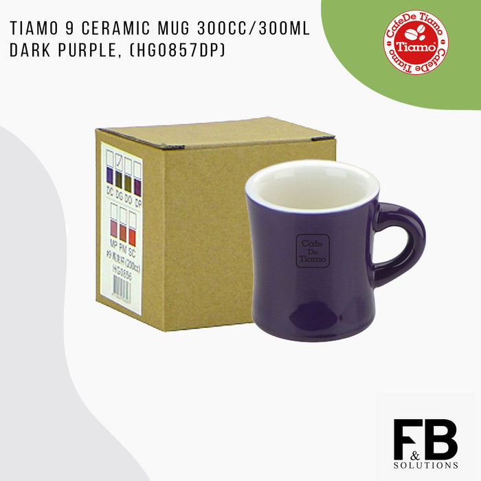 TIAMO MUG 300CC DARK PURPLE