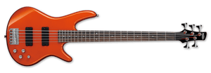 IBANEZ GSR205 5 STRING BASS GUITAR, ROADSTER ORANGE METALLIC | Zoso Music