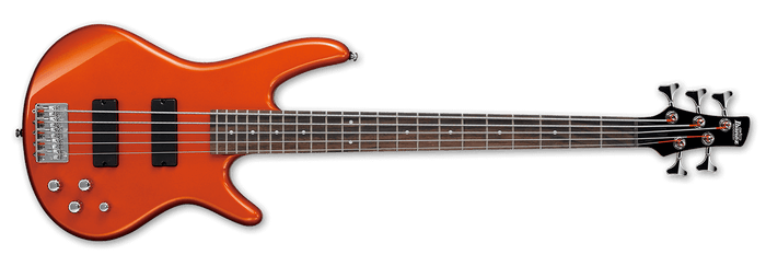 IBANEZ GSR205 5 STRING BASS GUITAR, ROADSTER ORANGE METALLIC