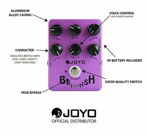 JOYO JF-16 BRITISH SOUND EFFECT PEDAL | Zoso Music