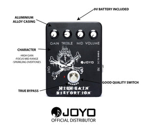 JOYO JF-04 HIGH GAIN DISTORTION | Zoso Music