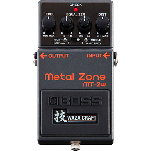 BOSS MT-2W METAL ZONE WAZA CRAFT DISTORTION PEDAL (MT2W / MT 2W) | Zoso Music