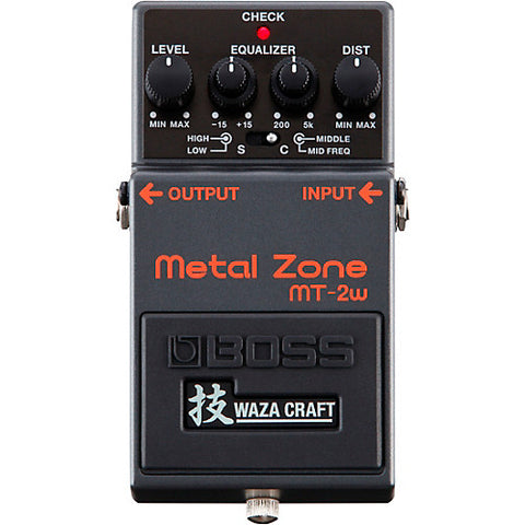 BOSS MT-2W METAL ZONE WAZA CRAFT DISTORTION PEDAL (MT2W / MT 2W)