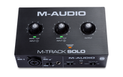 M-AUDIO M-TRACK SOLO 2 IN 2 OUT USB AUDIO INTERFACE W/01 MIC PREAMP