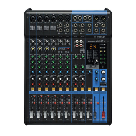 YAMAHA MG12XU 12 CHANNEL ANALOG MIXER