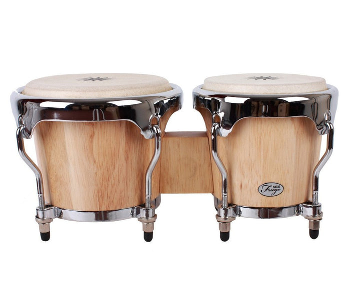 NATAL NFU67N - MCN NATURAL WOOD BONGOS CHROME HARDWARE, MATT NATURAL
