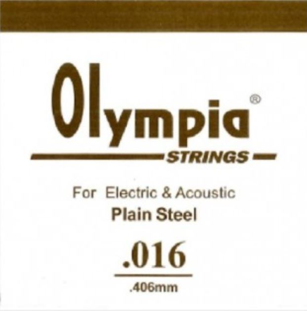 OLYMPIA 100PCS SINGLE STRING 016 FOR ELECTRIC GUITAR & ACOUSTIC