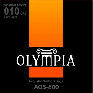 OLYMPIA AGS800 ACOUSTIC GUITAR STRING 10-47 | Zoso Music