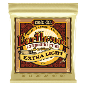 ERNIE BALL 2006 EARTHWOOD EXTRA LIGHT 80-20 BRONZE ACOUSTIC SET, .010 - .050 | Zoso Music