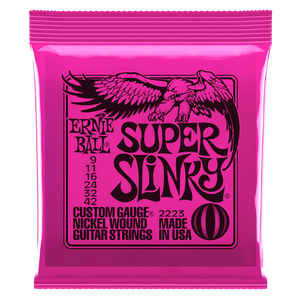 ERNIE BALL 2834 SUPER SLINKY NICKEL WOUND SET, .009 - .042 | Zoso Music