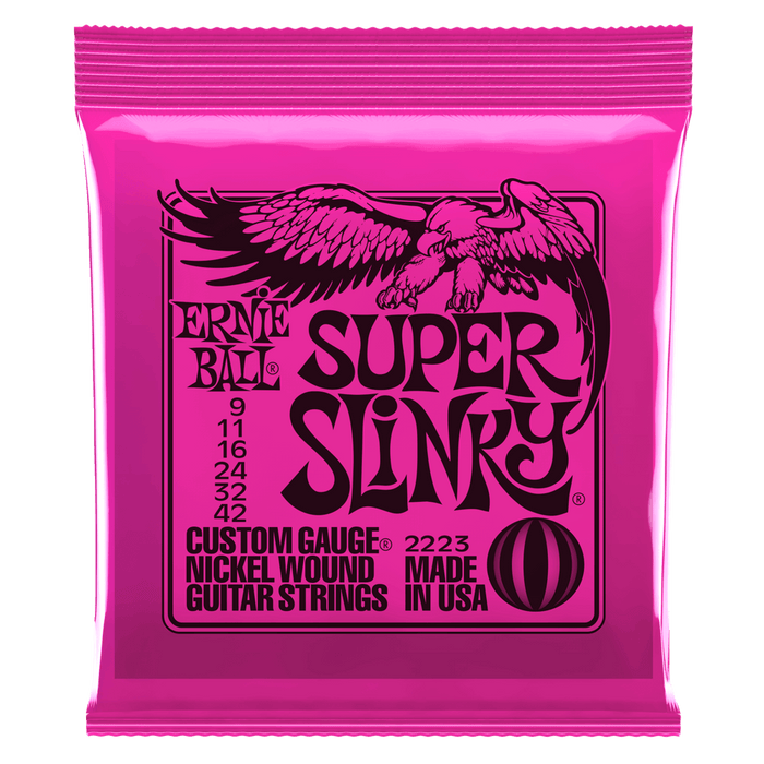 ERNIE BALL 2834 SUPER SLINKY NICKEL WOUND SET, .009 - .042