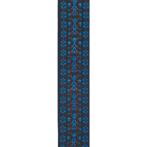 PLANET WAVES WOVEN GUITAR STRAP HOOTENANNY, BLUE | Zoso Music