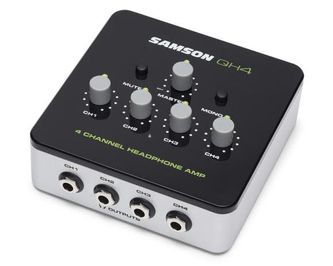 SAMSON 4 CHANNEL HEADPHONE AMPLIFIER QH4