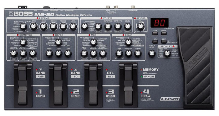 BOSS ME-80 GUITAR EFFECT PROCESSOR MULTI EFFECT (ME80) WITH FREE ADAPTOR