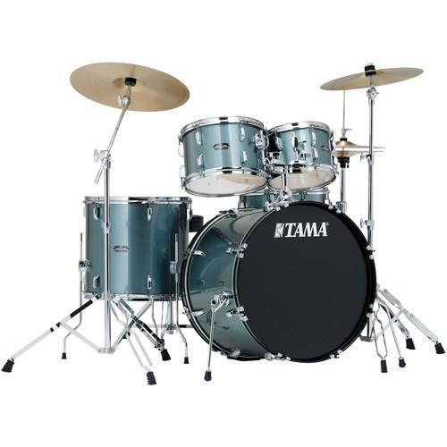 TAMA STAGESTAR SG52KH6 CSV CHARCOAL SILVER 5 PIECE ACOUSTIC DRUM SET WITH FULL SET HARDWARE PACK (W/O CYMBALS) FREE DRUM THRONE | Zoso Music