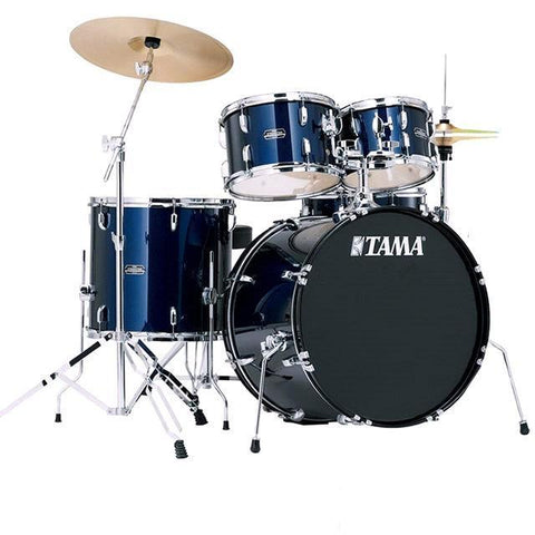 TAMA STAGESTAR SG52KH6 BLUE 5 PIECE ACOUSTIC DRUM SET WITH FULL SET HARDWARE PACK (W/O CYMBALS) FREE DRUM THRONE | Zoso Music