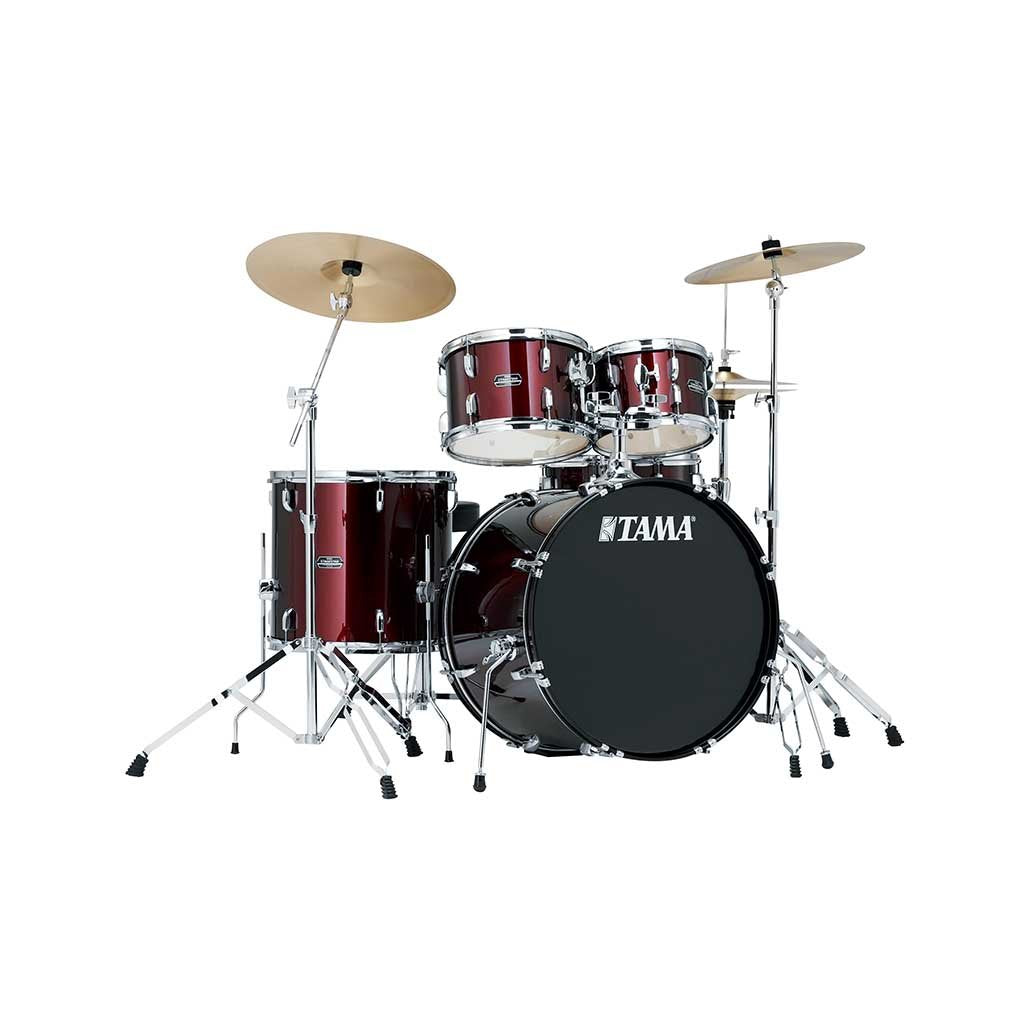 TAMA STAGESTAR SG52KH6 WR WINE RED 5 PIECE ACOUSTIC DRUM SET WITH FULL SET HARDWARE PACK (W/O CYMBALS) FREE DRUM THRONE | Zoso Music