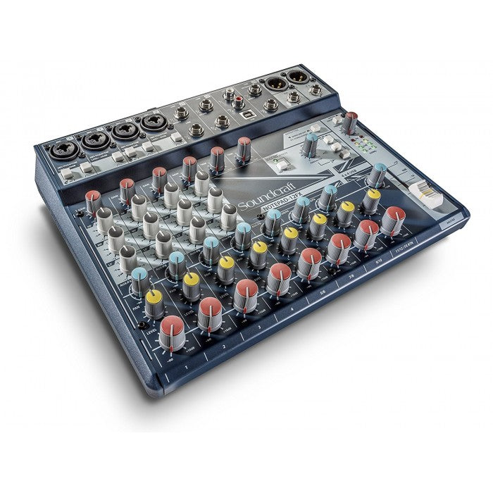 SOUNDCRAFT NOTEPAD-12FX 12 CHANNEL MIXER WITH EFFECTS AND USB