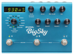 STRYMON BIGSKY REVERB GUITAR EFFECTS PEDAL | Zoso Music