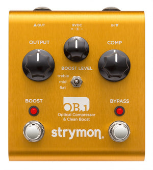 STRYMON OB.1 OPTICAL COMPRESSOR & CLEAN BOOST GUITAR EFFECTS PEDAL | Zoso Music