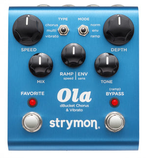 STRYMON OLA DBUCKET CHORUS & VIBRATO GUITAR EFFECTS PEDAL | Zoso Music
