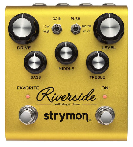 STRYMON RIVERSIDE MULTISTAGE DRIVE GUITAR EFFECTS PEDAL | Zoso Music