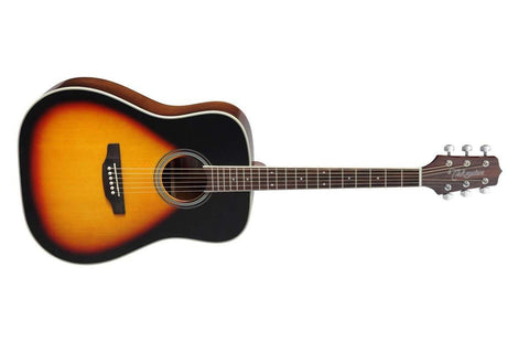 TAKAMINE D3D BSB DREADNOUGHT ACOUSTIC GUITAR, BROWN SUNBURST.