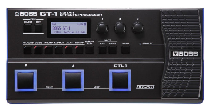 BOSS GT-1 GUITAR EFFECTS PROCESSOR (GT1) WITH FREE ADAPTOR
