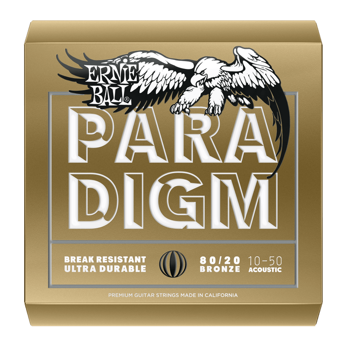 ERNIE BALL PARADIGM EXTRA LIGHT 80/20 BRONZE ACOUSTIC GUITAR STRINGS - 10-50 GAUGE