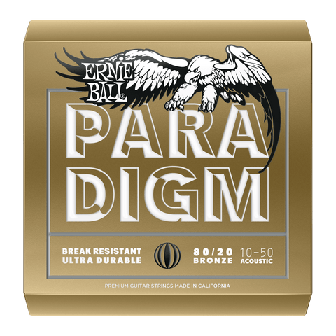 ERNIE BALL PARADIGM EXTRA LIGHT 80/20 BRONZE ACOUSTIC GUITAR STRINGS - 10-50 GAUGE | Zoso Music